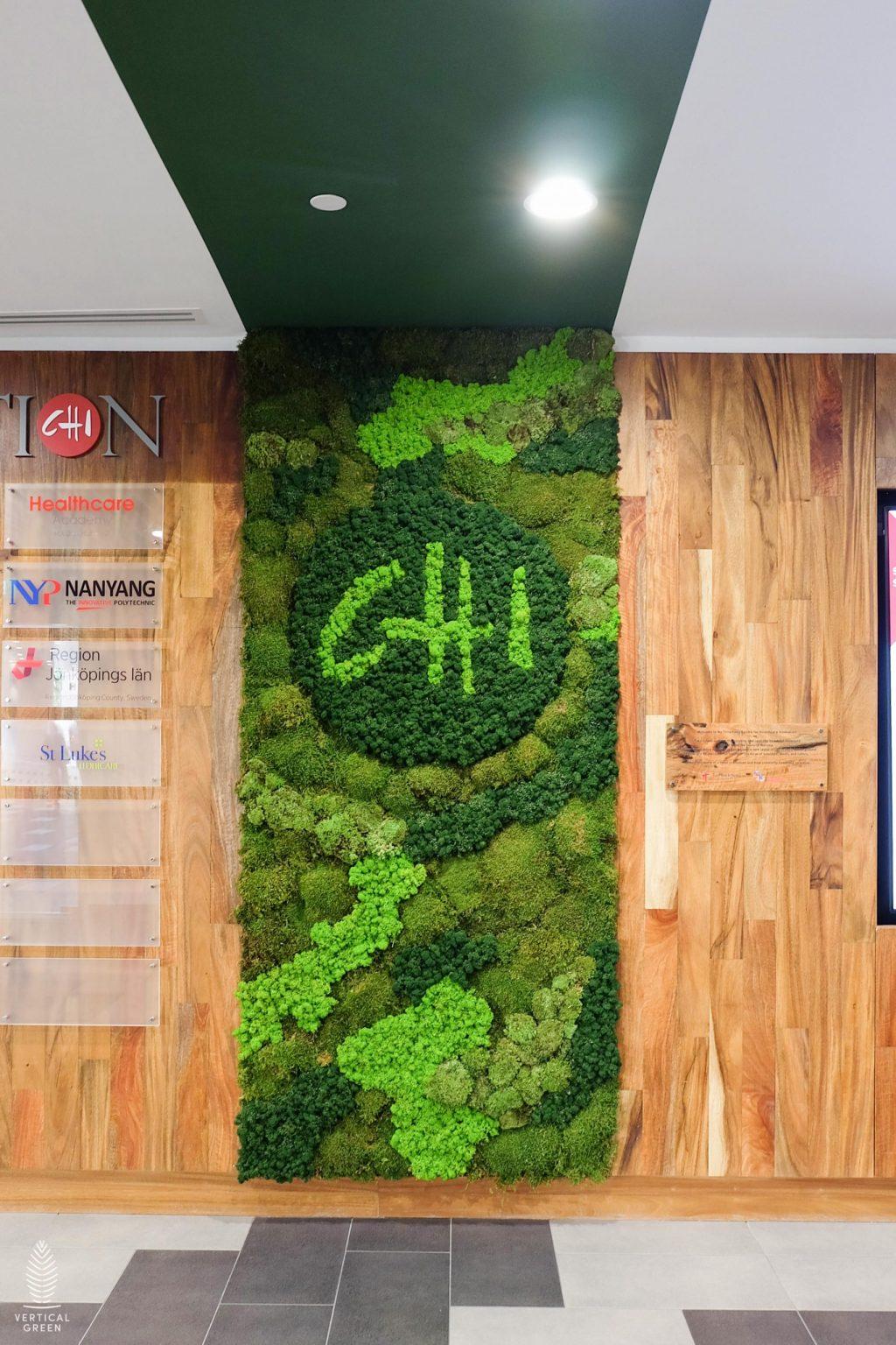 moss wall logo hospital singapore
