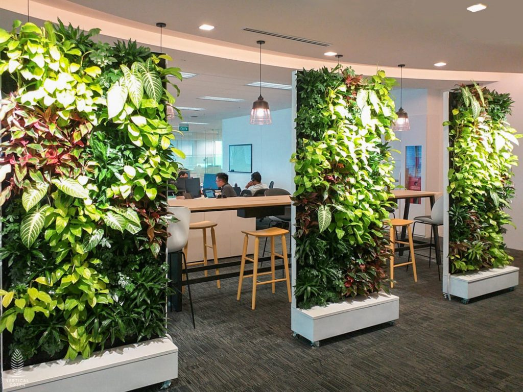 green wall office
