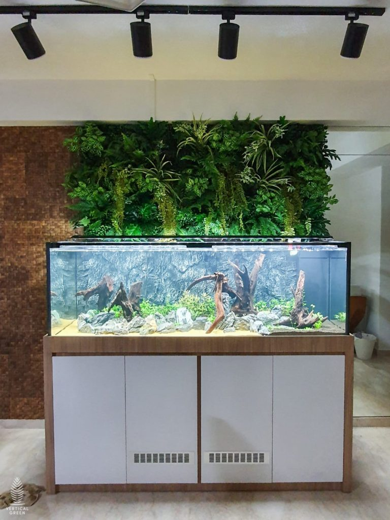 artificial green wall home singapore