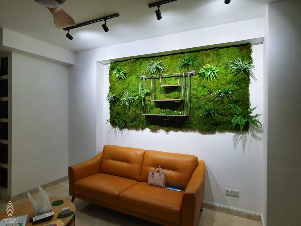 moss wall art living room singapore
