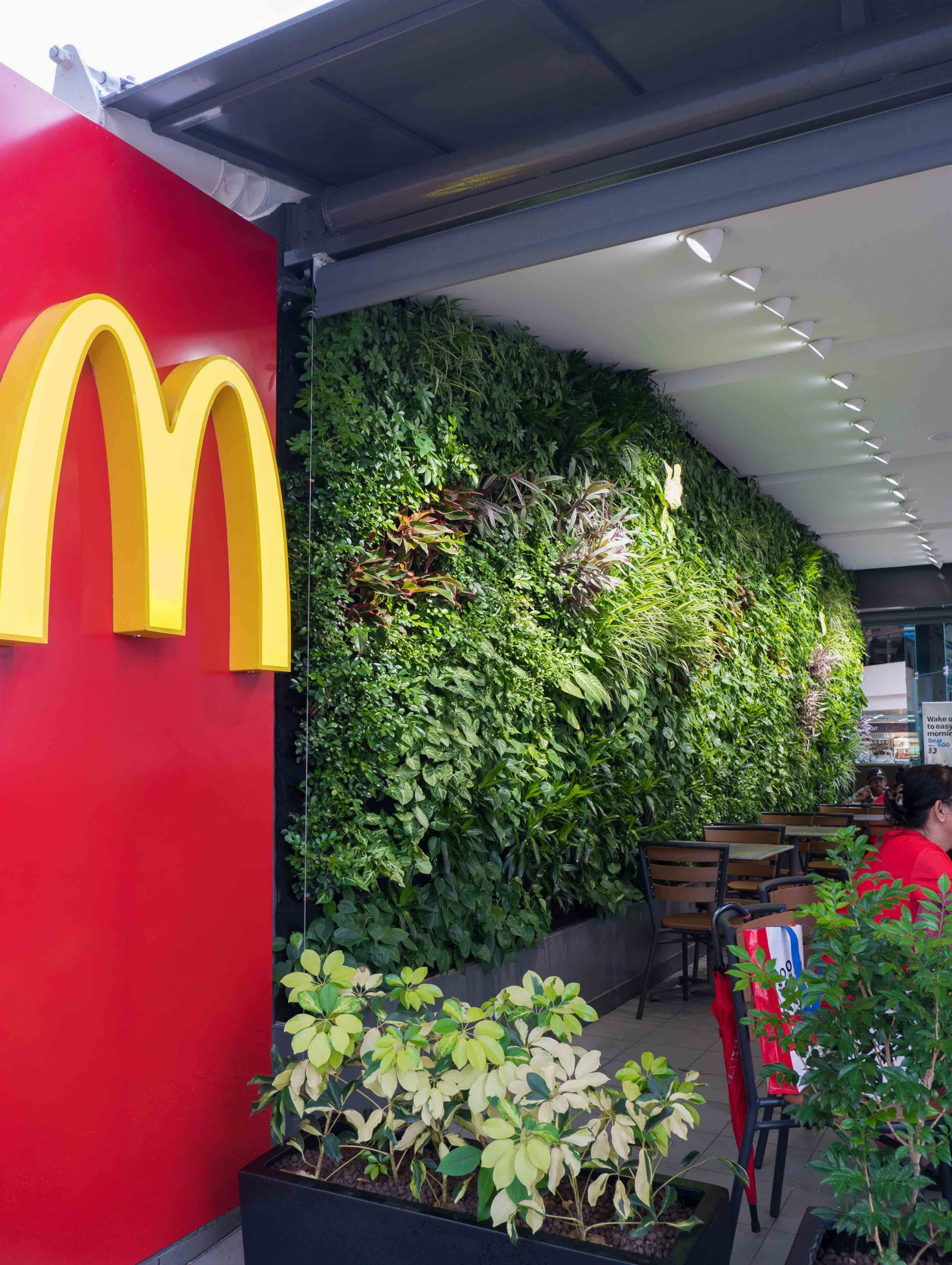 McDonalds Green Wall Singapore Indoor Portrait