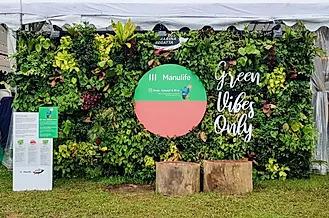 artificial green wall rental singapore event