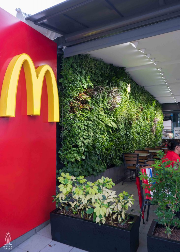 green wall mcdonalds Singapore