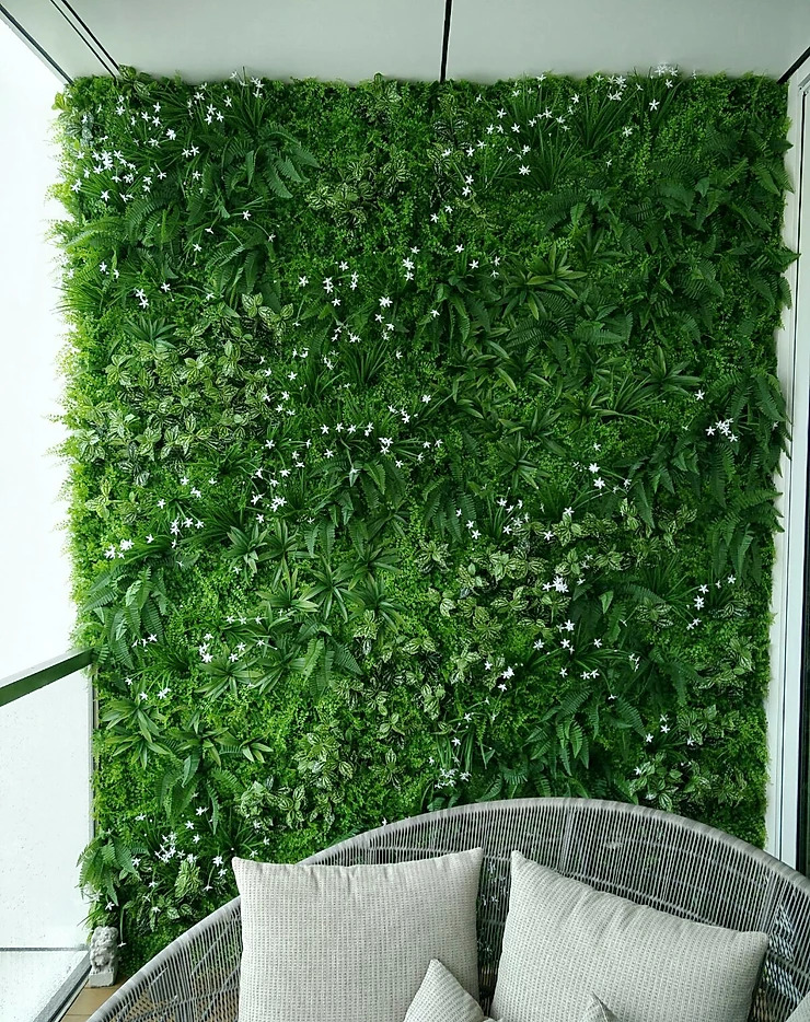 artificial green wall balcony singapore