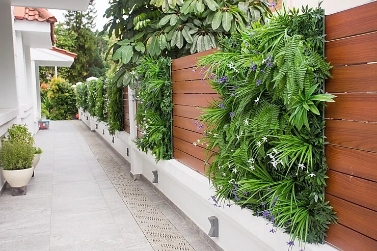 Artificial Green Wall in home garden of East Coast Avenue Singapore