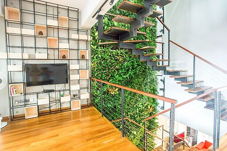 green wall home residential singapore