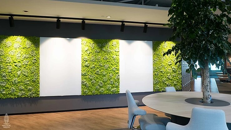 Moss Wall at Office of Trend Micro Singapore
