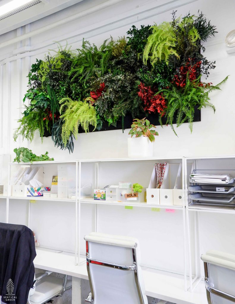 preserved plants green wall office singapore