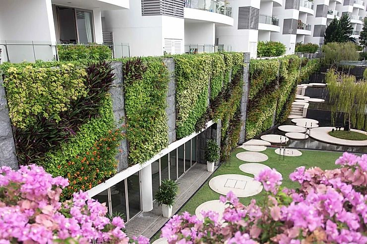 The coast green wall singapore condominium