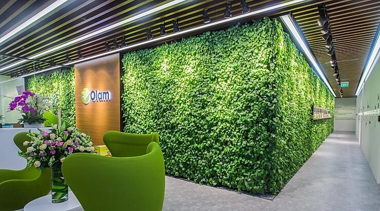 green wall offices Singapore