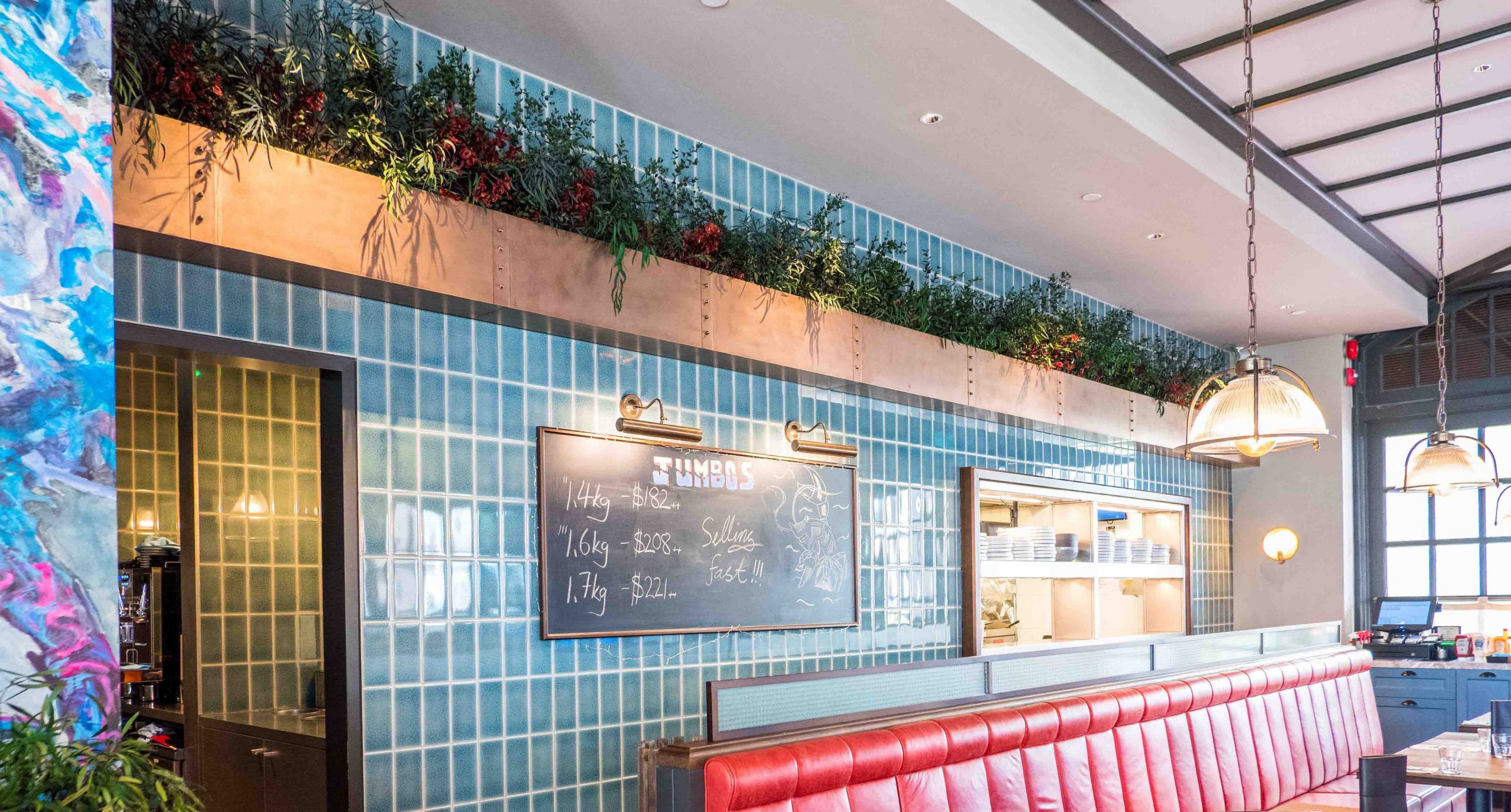 preserved plants pots restaurant singapore