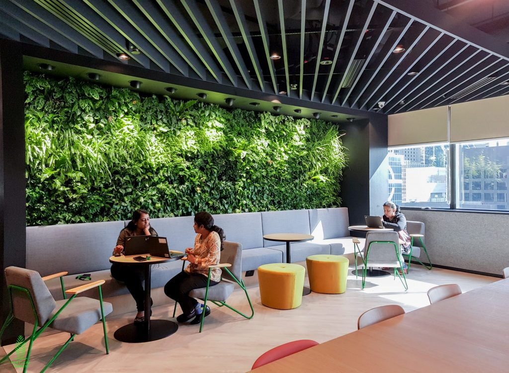 Manulife Green Wall Singapore Office