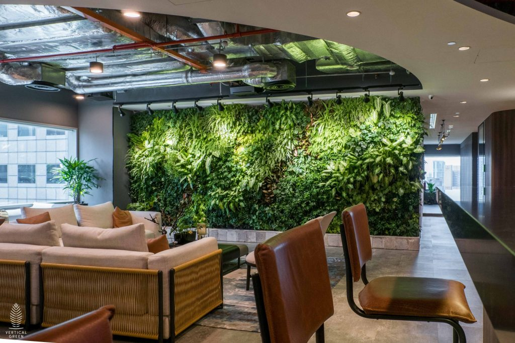 green wall singapore trend micro office