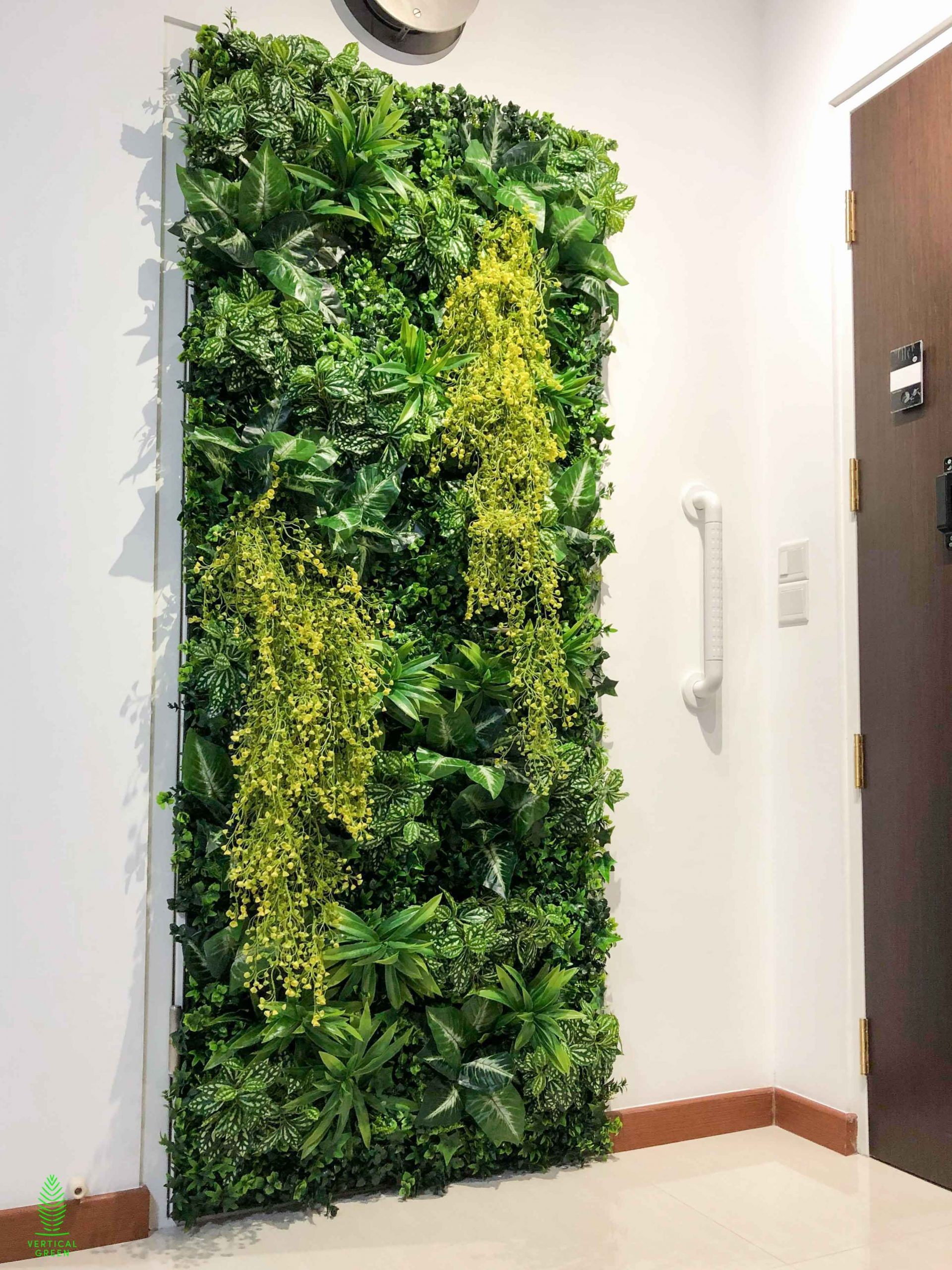 Singapore HDB bomb shelter green wall decoration