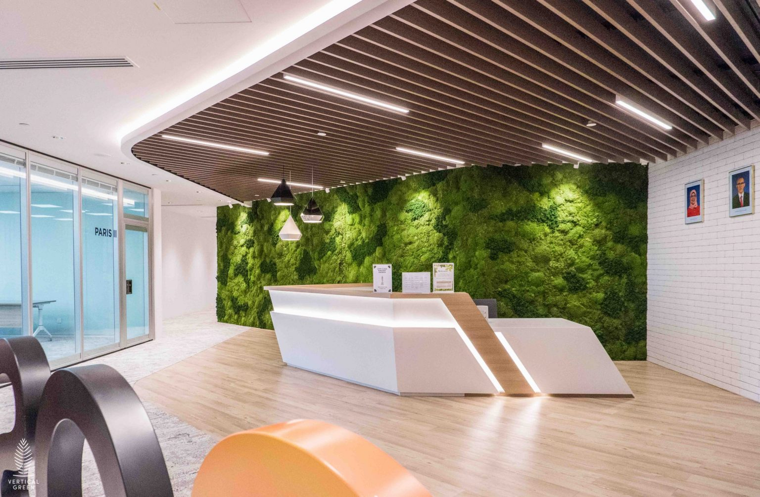 Moss wall office indoor singapore