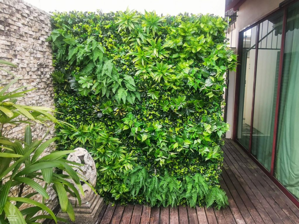 artificial green wall singapore home