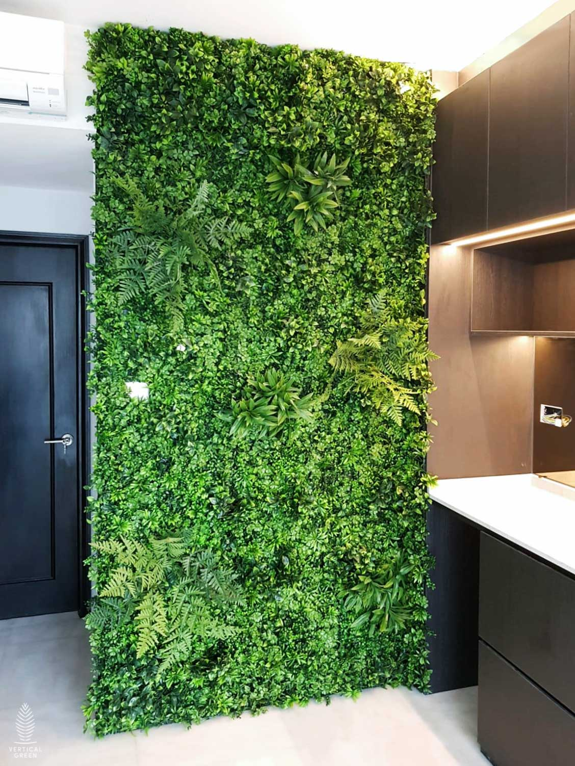 artificial green wall plant mat singapore indoors home