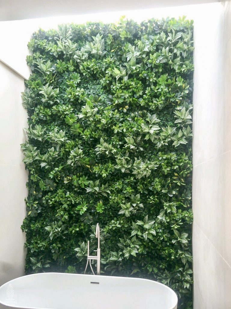 artificial green wall in bathroom singapore