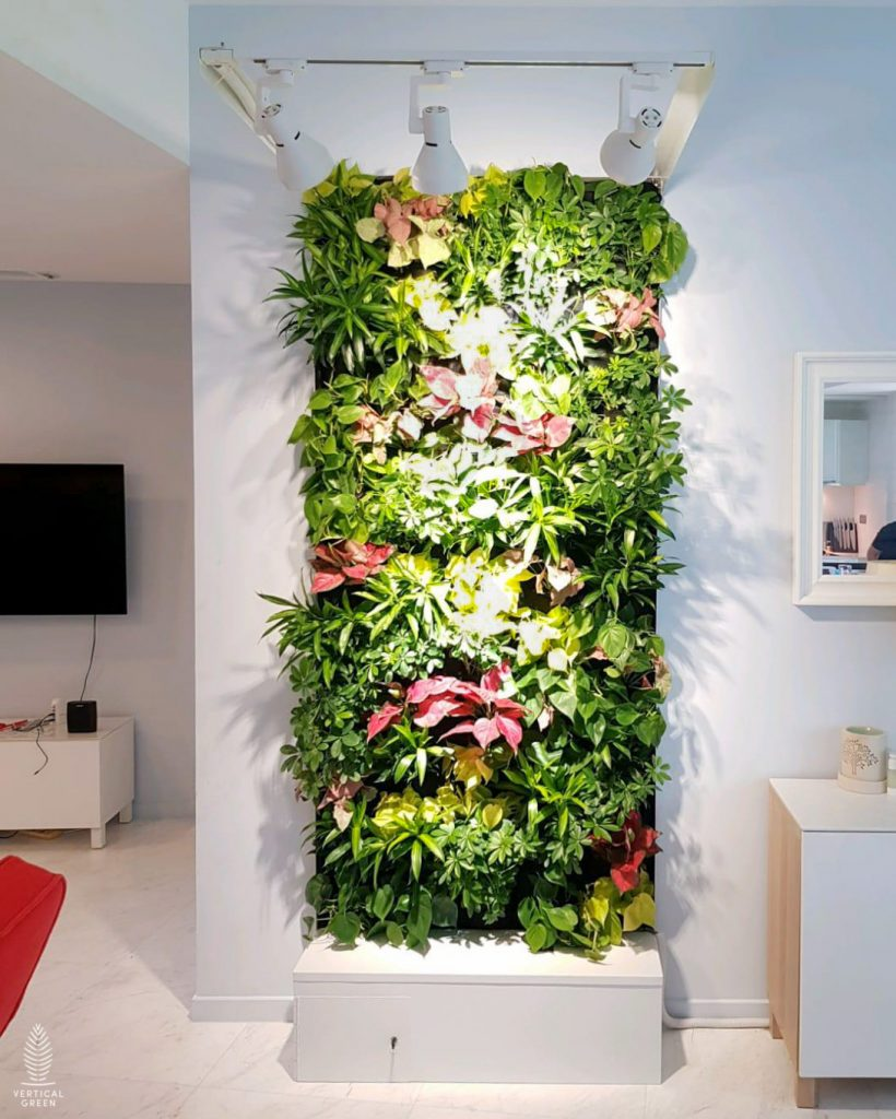 green wall in homes singapore