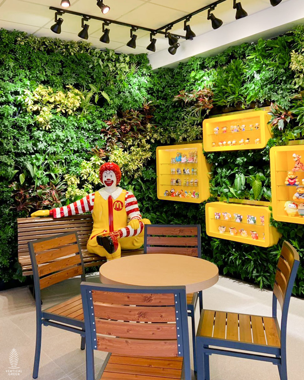 Green wall at Mcdonalds Kallang Singapore
